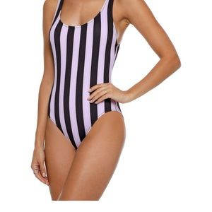 The Anne-Marie striped swimsuit solid and striped